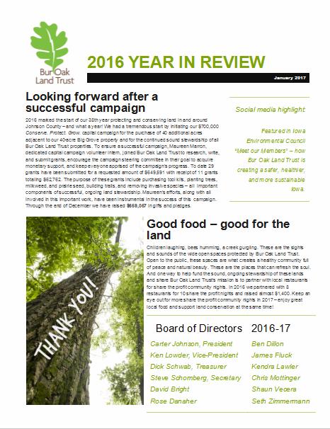 Annual Report - Bur Oak Land Trust